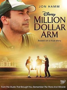 "JB Bernstein is a once-successful sports agent who may have to close his business. To save it, he comes up with an idea so radical it just might work. Setting off for Mumbai, JB stages a televised nationwide competition called ""Million dollar arm"" where two young finalists emerge as winners.  Sports Biography, Rated PG, 124 min.  http://ccsp.ent.sirsi.net/client/hppl/search/results?qu=million+dollar+arm+gillespie&te=&lm=HPLIBRARY&dt=list"