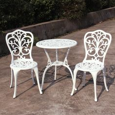 White Aluminium Table and Chairs – Next Day Delivery White Aluminium Table and Chairs from WorldStores: Everything For The Home