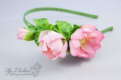 Wrap hair with pink lotus flowers from floral by polymerFlowers
