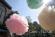 結婚式のテーマカラーに合わせてコーディネートできる!全12色から選べるウェディングペーパーポンポン手作りキット【結婚式グッズ通販シェリーマリエ】