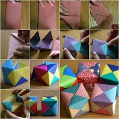 DIY Origami Cube. See this tutorial here