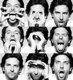 Pese a todas esas muecas, Bradley Cooper parece no tener problemas con las líneas de expresión ;)