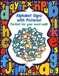 Classroom Freebies: Alphabet Flash Cards/Word Wall Signs!