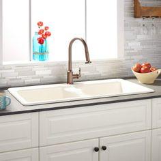 10 best cast iron kitchen sinks images wall mount kitchen faucet rh pinterest com