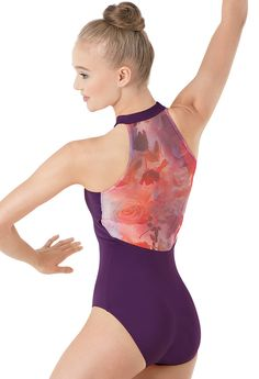 I really like the colours and the neckline on this leotard. It doesn't come in black, which may be a problem depending on my dance dress code (taking jazz), but it's still really pretty.