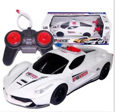 2017 118 4ch police rc car model baby toys 4 channels remote control car
