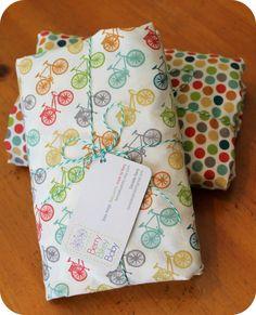 Organic Crib Sheet Set - Bicycle Crib Sheet - Bike Crib Bedding - Bicycle Baby Bedding - Birch Fabrics Crib Sheet - Bike Baby Bedding