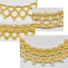 Necklace Pattern. This necklace pattern has 16 pages of step-by-step directions. The necklace is made by doing six rows, but it is unique because you can stop after each row is done and wear the necklace. I have put pictures in the PDF showing how the necklace would look after stopping at that particle row. It is also reversible after several different rows, so you can get at least 11 different looks from the same pattern.