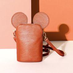 Brenice Shoulder Bags Girls Cute Animal Phone Crossbody Bags