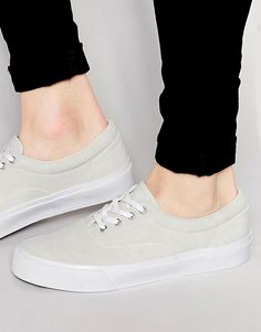eec55e4d9271 Image 1 of ASOS Lace Up Sneakers in Stone Faux Suede Plimsolls