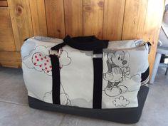 Sac week-end Boston thème Mickey cousu par les sacs de Patate - patron Sacôtin
