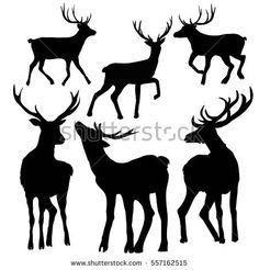 deer silhouette-vector illustration