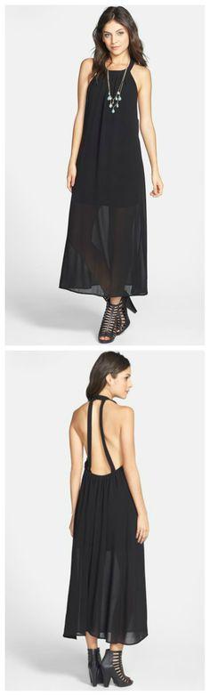 Stunning little black dress. Love the back!