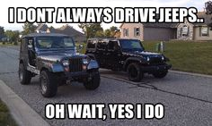 Cherry Hill CDJR offers new & used Chrysler, Dodge, Jeep and RAM cars, trucks, and SUVs to our customers near Philadelphia. Jeep Wrangler Forum, Jeep Wrangler Unlimited, My Dream Car, Dream Cars, Jeep Quotes, Truck Quotes, Truck Memes, Car Memes, Sign Quotes