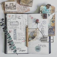 Keeping an art journal or scrapbook. Ideas and inspiration for travel journaling