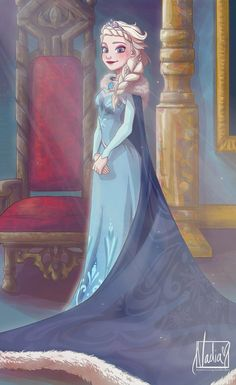 I'd love to see Elsa wear something like this now that she fully claims the title 'Queen of Arendelle'.
