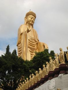 The Great Buddha at the Fo Guang Shan (Buddha Light Mountain) temple in Kaohsiung, Taiwan
