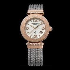 Charriol Alexandre    Pink gold plated case 36mm  Silver dial  Cable bracelet  #watch