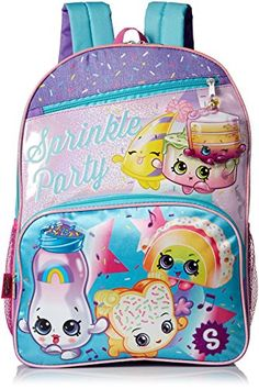 Shopkins Girls' Sprinkle Party Backpack, Blue