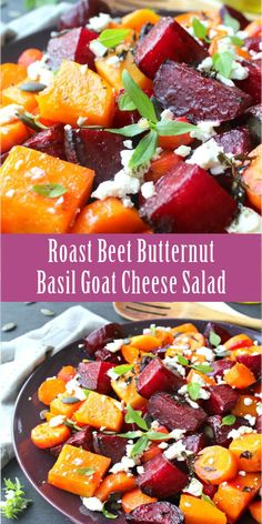 A fiesta of colours, flavours, textures and deliciousness! The beets, buttern. Roasted Beets And Carrots, Roasted Beet Salad, Beet Salad Recipes, Veggie Recipes, Vegetarian Recipes, Healthy Recipes, Roasted Beets Recipe, Recipes For Beets, Easy Beet Recipe