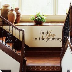 Find Joy in the Journey.  Wall Written specializes in designing beautiful wall quotes, vinyl wall words and artistic vinyl decals which are perfect for use in your home, apartment, and office decor. For more information about wall decals, wall quotes, Wall Written, please visit www.wallwritten.com