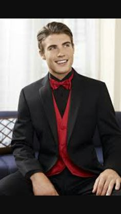 Best red and black prom themed tux !