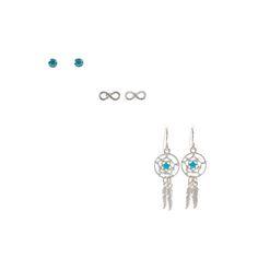 3 Pack Infinity Dreamcatcher Earrings