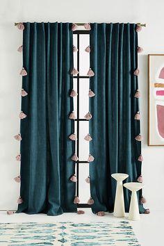 Teal Curtains, Living Room Decor Curtains, Striped Curtains, Colorful Curtains, Blue Velvet Curtains, Blue Curtains For Bedroom, Panel Curtains, Baby Room Curtains, Decorative Curtains