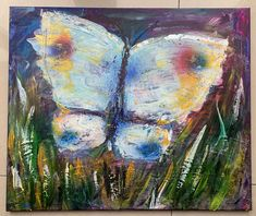 Bright modern original butterfly painting - acrylics, hand painted embellished with gold paint, signed, Watercolor Sunset, Butterfly Painting, Yellow Eyes, Stonehenge, Modern Colors, Gold Paint, Frame Shop, Paintings For Sale, Beautiful Paintings