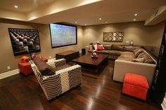 Basement, Movie room, Man Cave. Gotta have one.