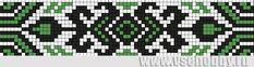 схема фенечки из бисера с восточным орнаментом