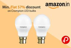 Amazon is giving flat 57 to 59% off on crompton led bulbs. Hurry up offer valid till stock last.  http://www.paisebachaoindia.com/min-flat-57-discount-on-crompton-led-bulbs-amazon/