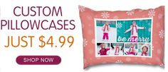These Custom Pillowcases are so cute and make great holiday gifts!
