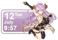 This is a Rainmeter skin featuring a character from Granblue Fantasy, Narumeia. I made this one in a calendar format and a purple themed one. So, enjoy this skin I have made for you. It's a r…