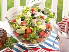 How To Make Red, White and Blueberry Salad