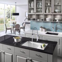 Bright white kitchen designs on pinterest sinks apron - Space saving sinks kitchen ...