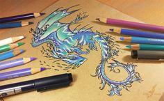 Space flower dragon