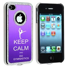 Keep Calm and Do Gymnastics iPhone bling case. love the bling  #gymnastics