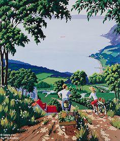 Rémi Clark, 'Retour du potager', print/reproduction | Galerie d'art - Au P'tit Bonheur - Art Gallery Clark Art, Galerie D'art, Z Arts, Reproduction, Back In The Day, Artist Art, Les Oeuvres, Artworks, Art Gallery