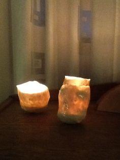 papierklei waxinelicht, romantische licht
