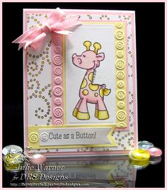Cute as a Button! IC388 by justwritedesigns - Cards and Paper Crafts at Splitcoaststampers