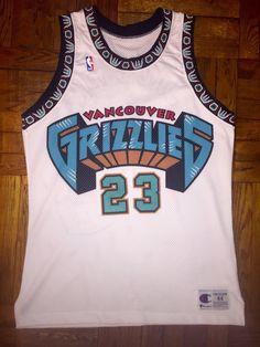 27712291c Vintage 90s Vancouver Grizzlies Prototype Sample by WestEndAM Grizzlies  Jersey