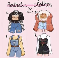 Cute Casual Outfits, Retro Outfits, Stylish Outfits, Grunge Outfits, Fashion Design Drawings, Fashion Sketches, Drawing Fashion, Kleidung Design, Drawing Anime Clothes