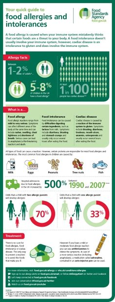 Quick Guide To Food Allergies and Intolerances