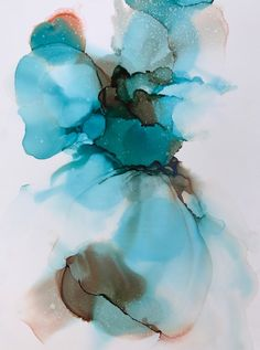"""""""Blossom"""" Alcohol ink on yupo by Gloria Gelo"""