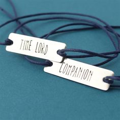Doctor Who Time Lord & Companion Cotton Cord Bracelets - Spiffing Jewelry …