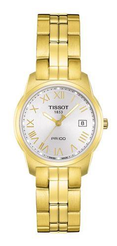 Tissot PR 100 Women's Yellow Stainless Steel Watch