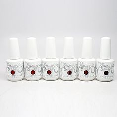 Gelish Soak Off Gel Color New Red Matters Collection 2015, 0.5oz. 6 x Bottle Gelish Gel Color 0.5oz (Fire Cracker #01078, Scandalous #01079, Ruby Two-Shoes #01080, Man Of The Moment #01081, Im so Hot #01082, Red Alert #01083).