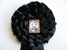 Civil War Abraham Lincoln Mourning Cockade by victoriansentiments