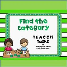 Find which Catagory TEACCH Tasks.15 Task card catagories with visuals for students with limited writing and fine motor skills These tasks are designed for kids with Autism/Kindergarten.Simply cut out, laminate and Velcro this interactive activity and start working on finding the right category areas.